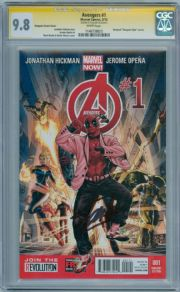 Avengers #1 Deadpool Gangnam Style Retail Variant CGC 9.8 Signature Series Signed Stan Lee Marvel Now comic book